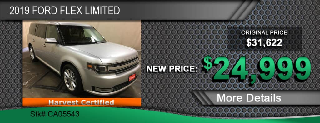 $24,999 Offer on a Used 2019 Ford Flex Limited