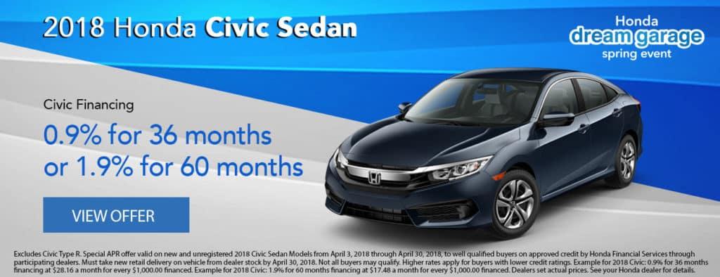 2018 Honda Civic Financing