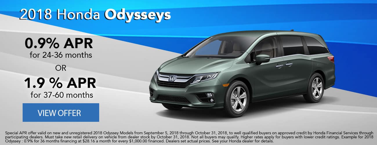 Finance 2018 Honda Odysseys