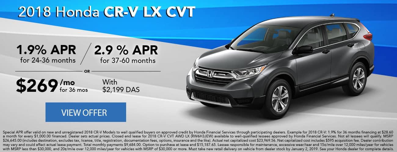2018 Honda CR-V LX CVT