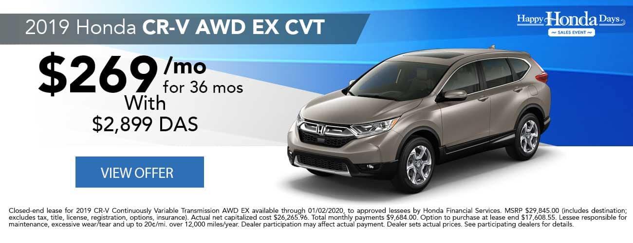 2019 Honda CR-V AWD EX CVT