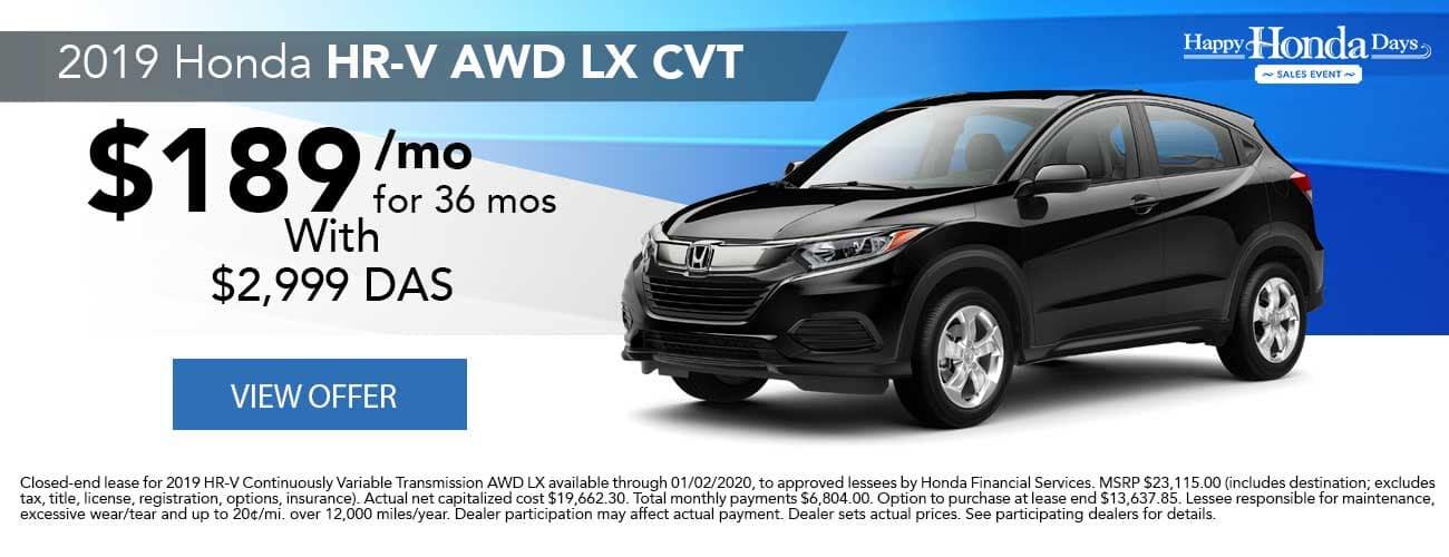 2019 Honda HR-V AWD LX CVT