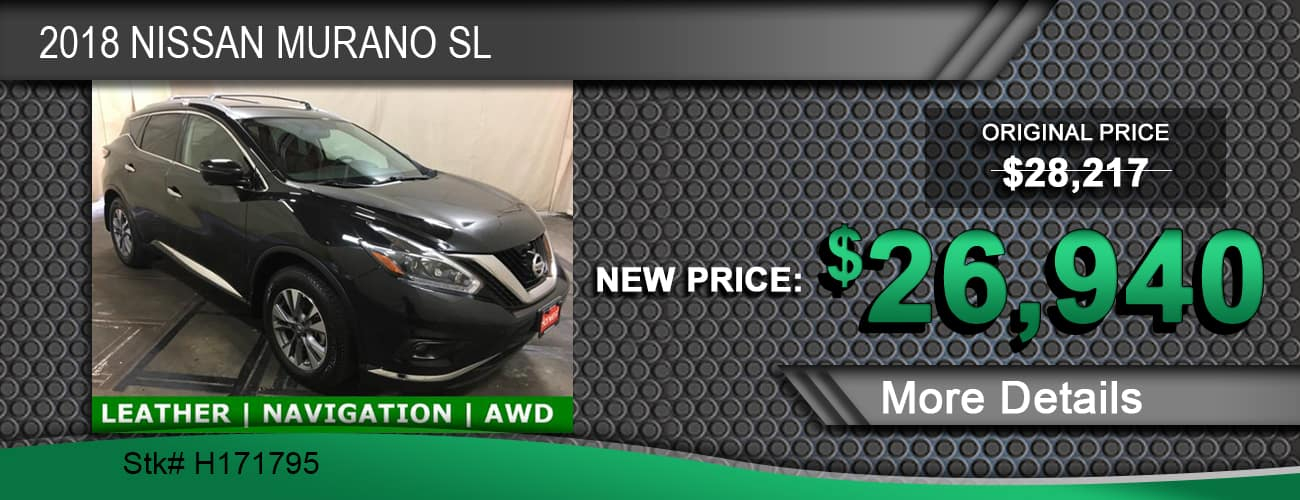 $26,940 Offer on a Used 2018 Nissan Murano SL