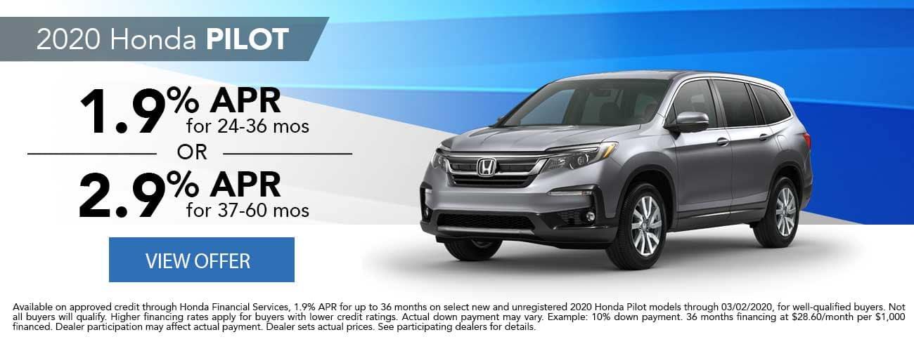New 2020 Honda Pilot APR Special