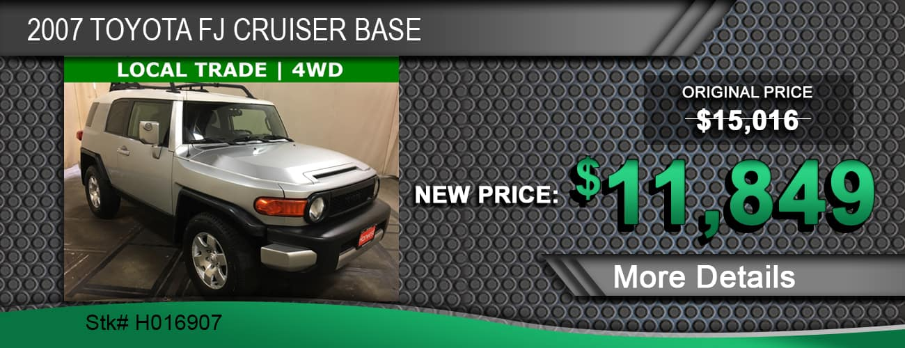 $11,849 Offer on a Used 2007 Toyota FJ Cruiser Base