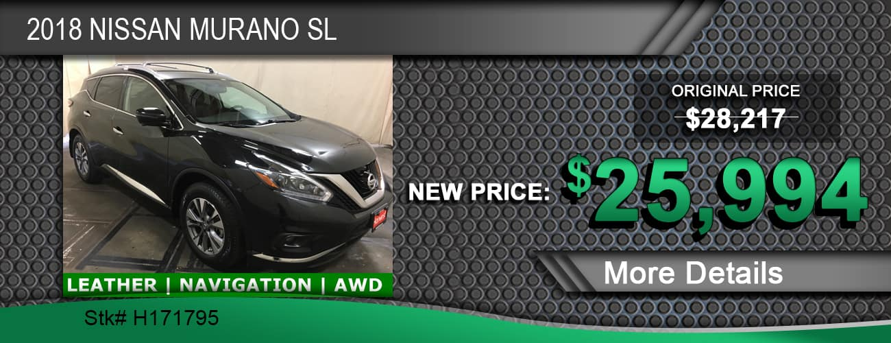 $25,994 Offer on a Used 2018 Nissan Murano SL