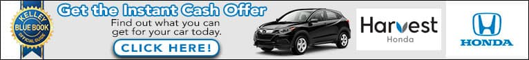 Get the Instant Cash Offer at Harvest Honda