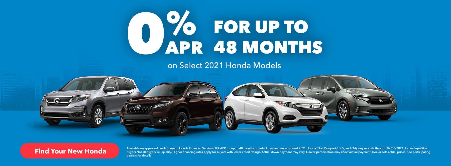 Harvest Honda 0% APR