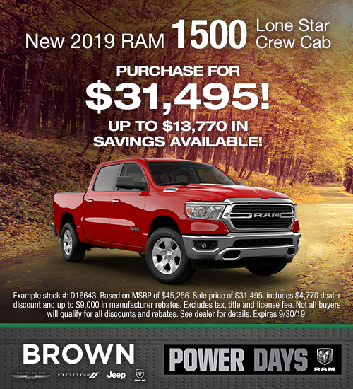 New 2019 RAM 1500 Lone Star Crew Cab