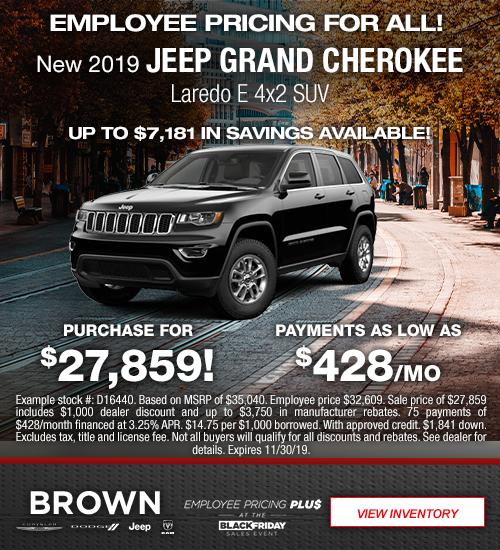 New 2019 Jeep Grand Cherokee Laredo E 4x2 SUV