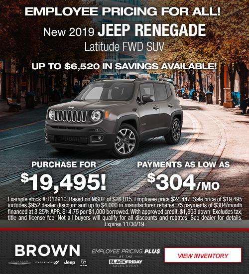 New 2019 Jeep Renegade Latitude FWD SUV