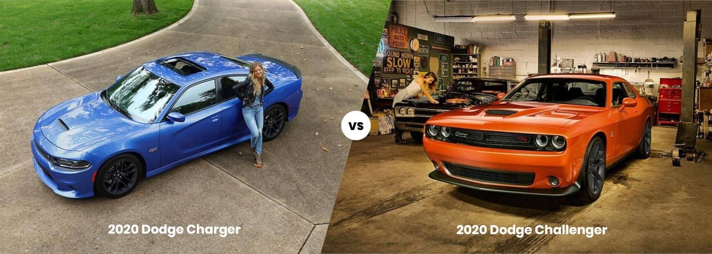 2020 Dodge Charger vs. Challenger banner