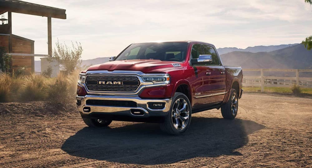 2019 Ram 1500 in red