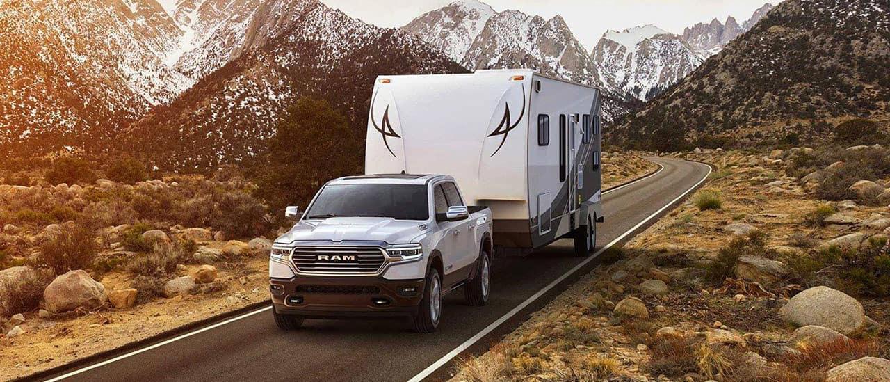 2019 Ram 1500 tows large trailer