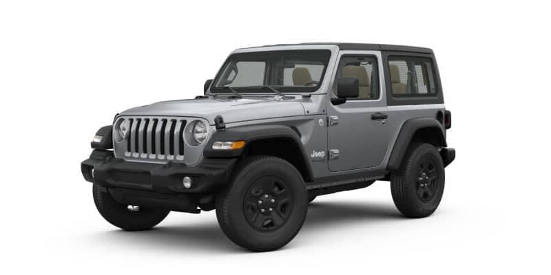 Silver Metallic 2-door Jeep Wrangler