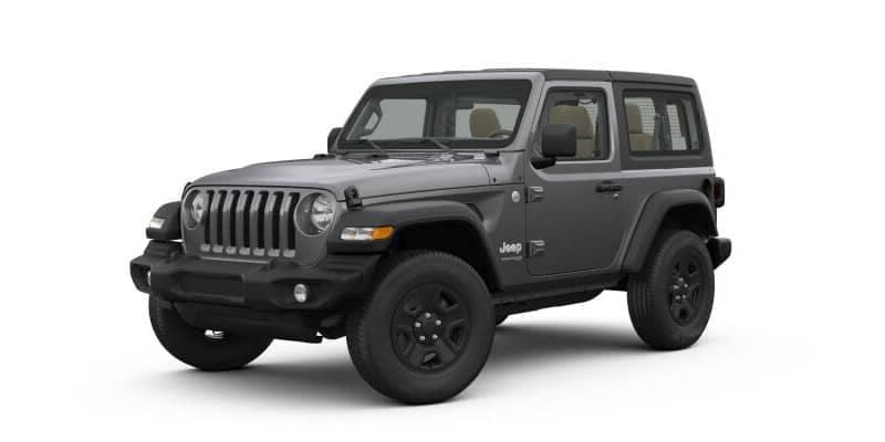 Dark Gray Metallic 2-door Jeep Wrangler