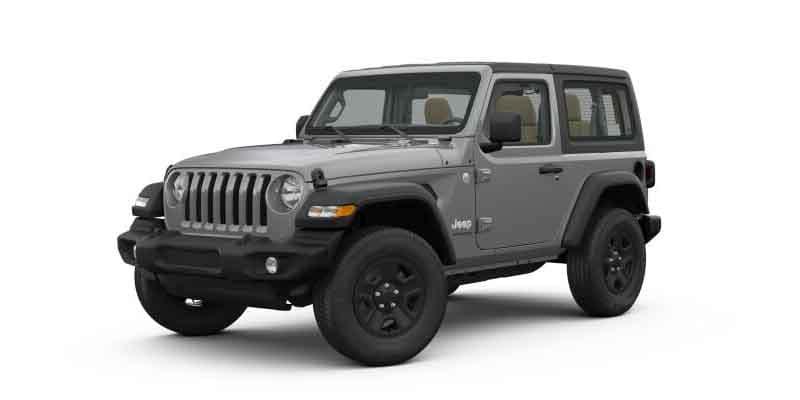 Dark Gray 2-Door Jeep Wrangler