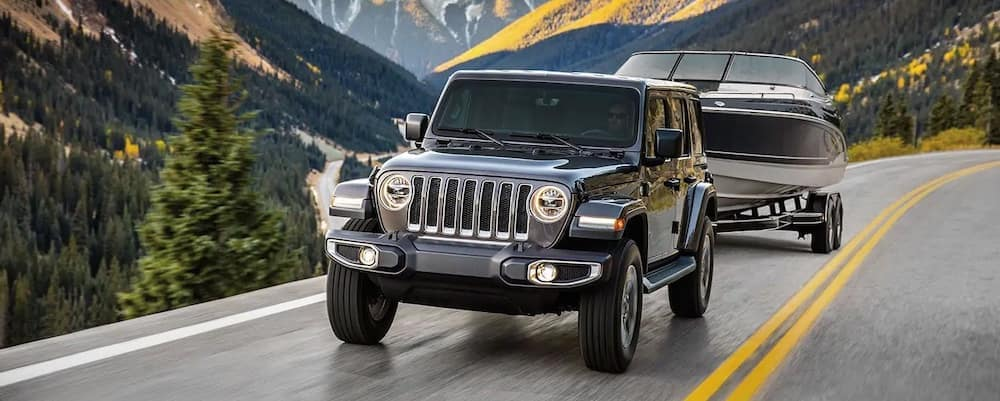 2019 Wrangler Towing A Boat