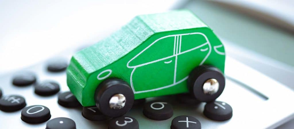 Toy car and calculator