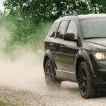 Dodge Journey On Dirt Road