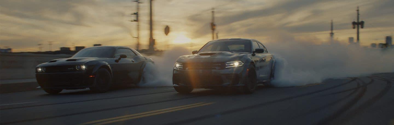 Dodge Cars On Road