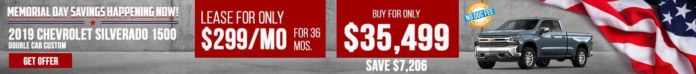 New Silverado Just $299/mo Now!