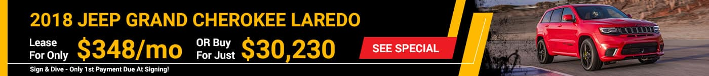 2018 Jeep Grand Cherokee $348/mo