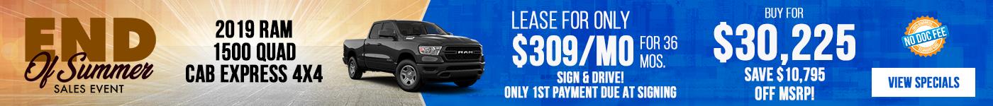 2019 Ram 1500 Just $309/mo!
