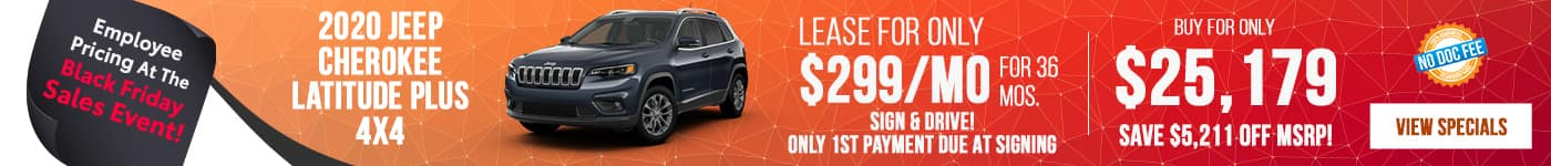 2020 Jeep Cherokee Just $299/mo Now