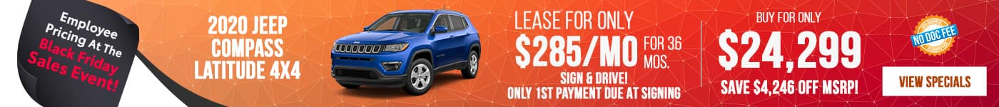 New 2020 Jeep Compass Just $285/mo!