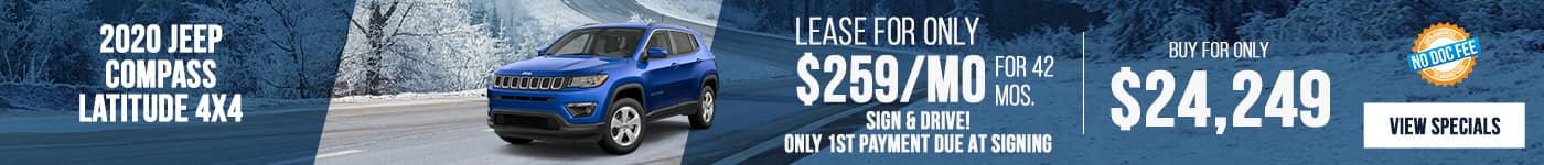 New 2020 Jeep Compass Just $259/mo!