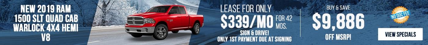 2019 Ram 1500 Just $339/mo!