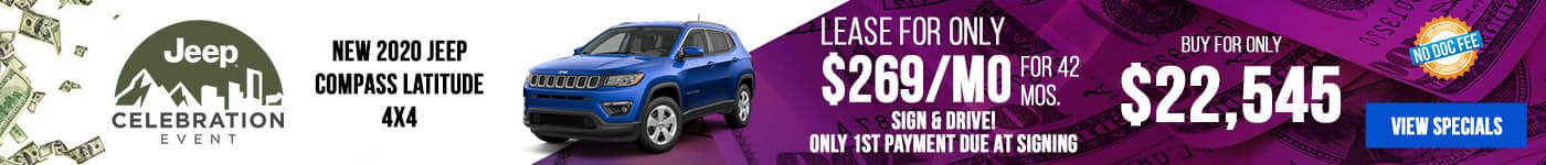 New 2020 Jeep Compass Just $269/mo!