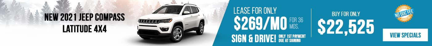 New 2021 Jeep Compass Just $269/mo!
