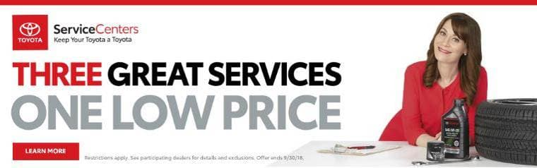 Three Great Services banner