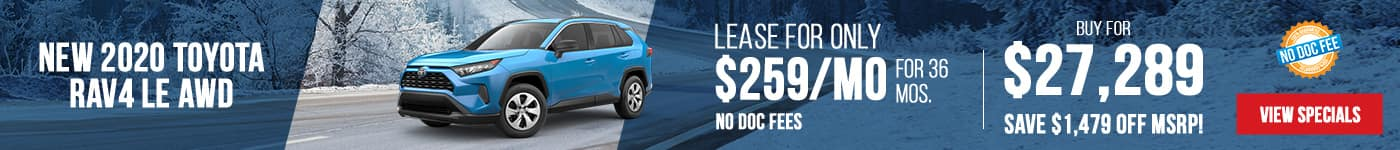 New 2020 Toyota RAV4 LE AWD Just $259/mo Only First Payment Due At Signing!