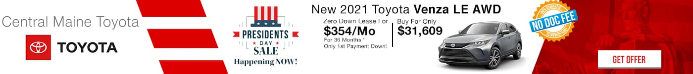 New 2021 Toyota Venza Special!