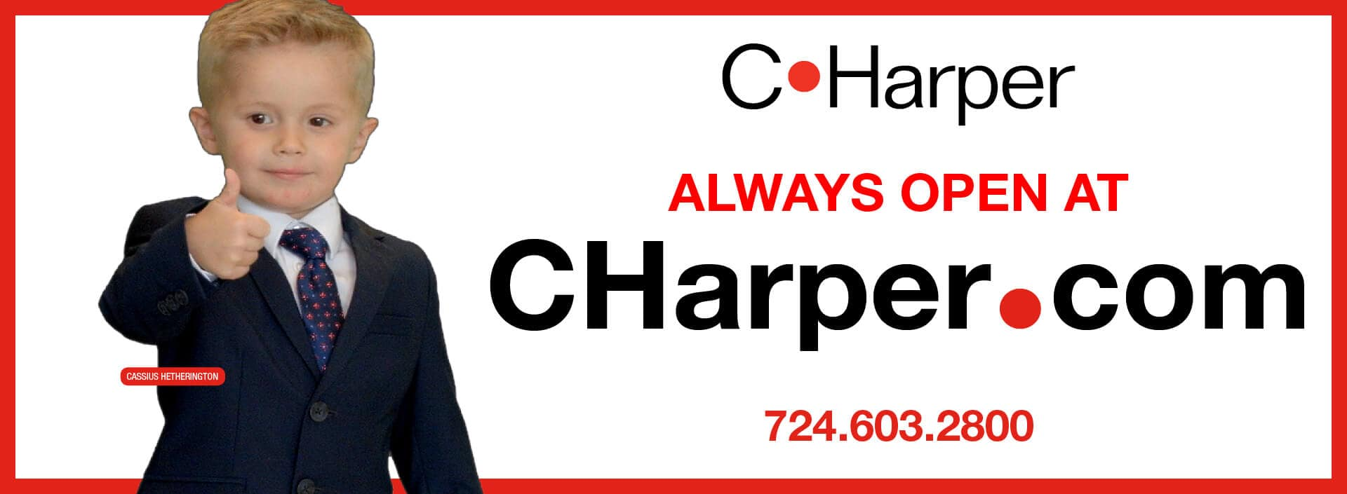 Always Open at CHarper.com