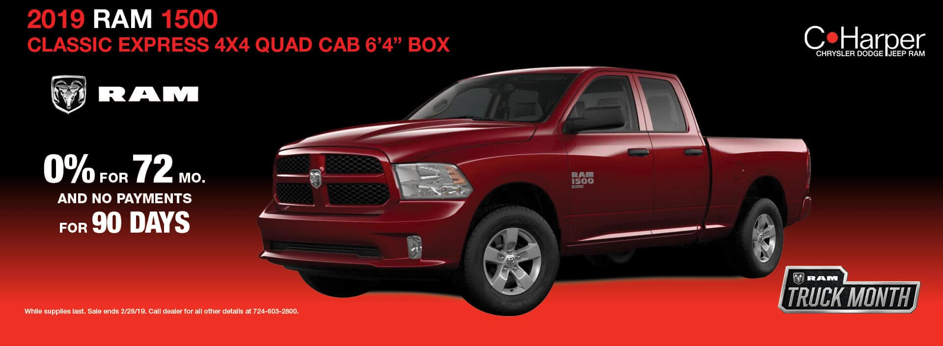 Ram 1500 Classic 0% for 72 Months