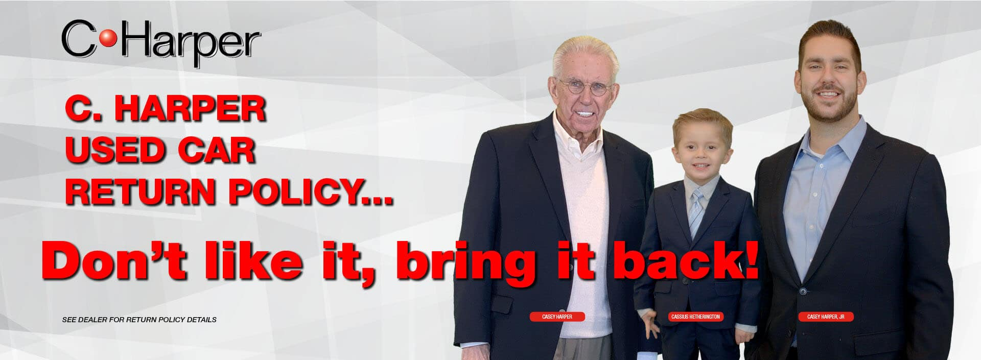 C. Harper Used Car Return Policy