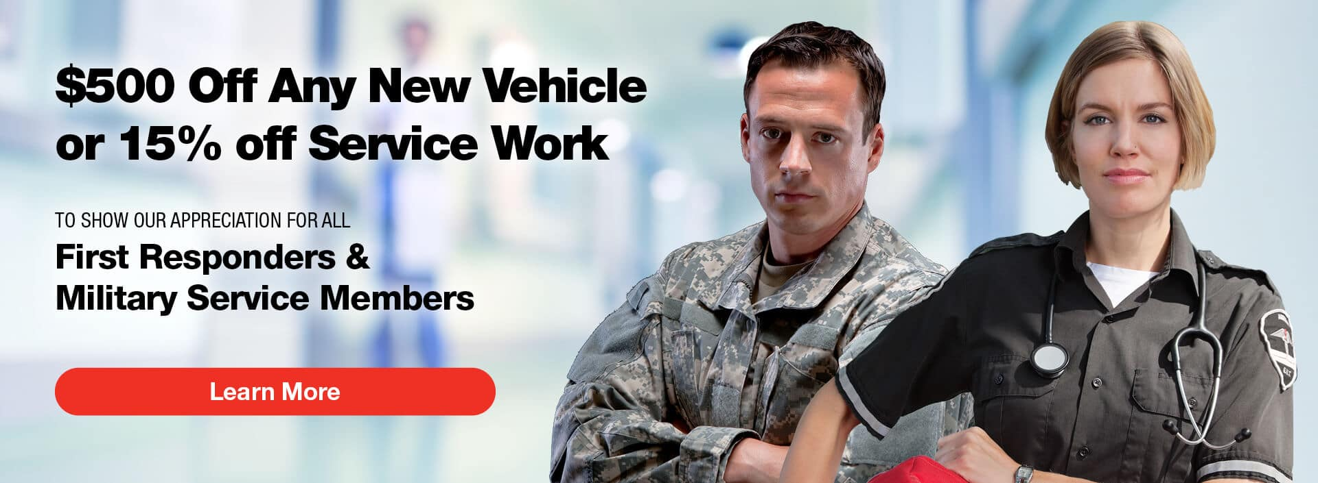 First Responders: 15% Off Service