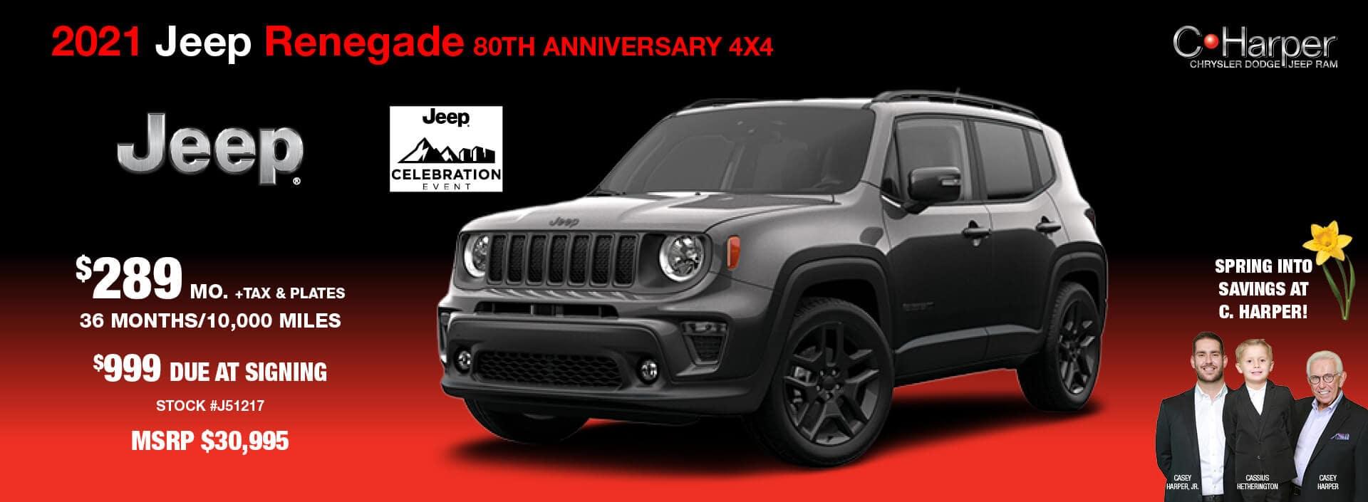 2021 Jeep Renegade 80th Anniversary 4X4
