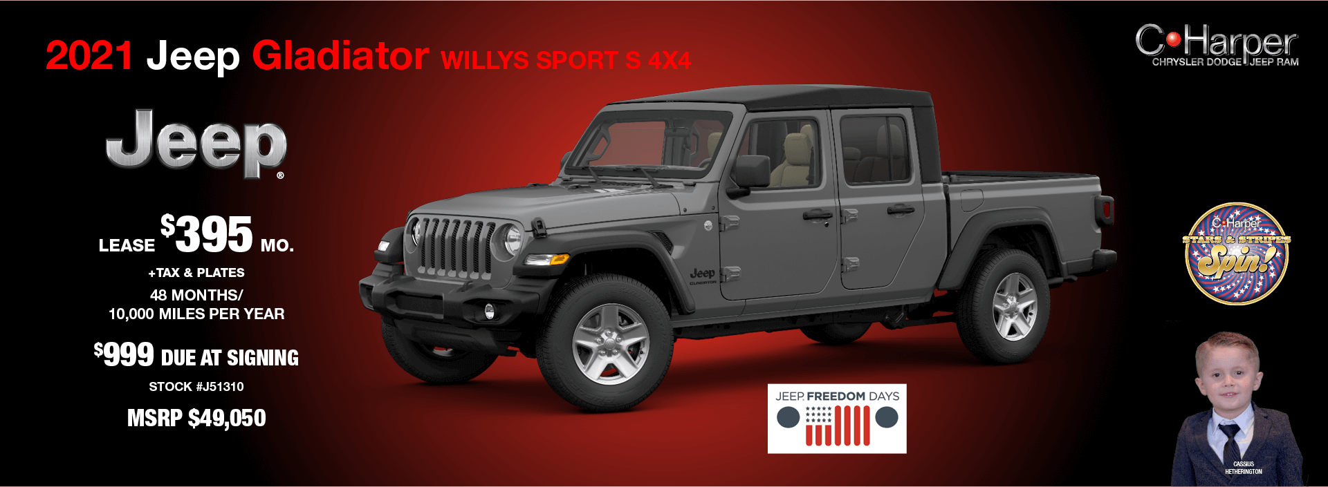 2021 Jeep Gladiator Willys Sport S 4X4