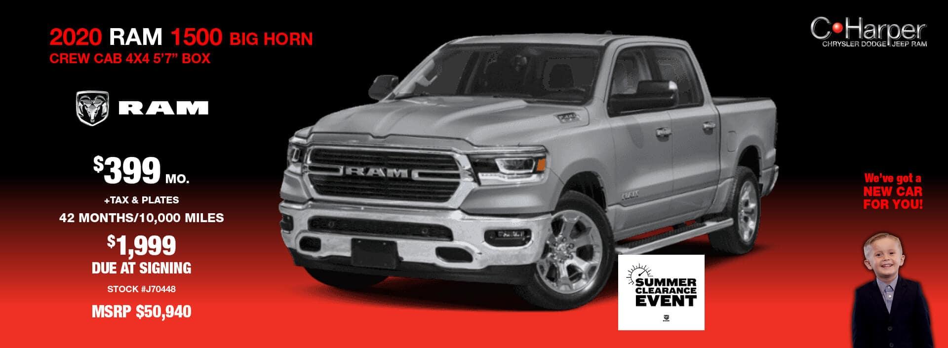 2020 Ram 1500 Big Horn Crew Dab 4x4 5'7
