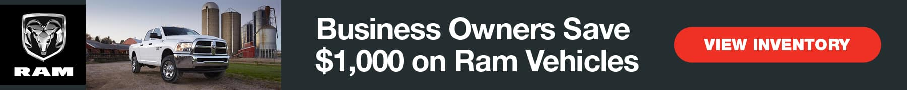 Business Owners Save $1,000 on Ram Vehicles