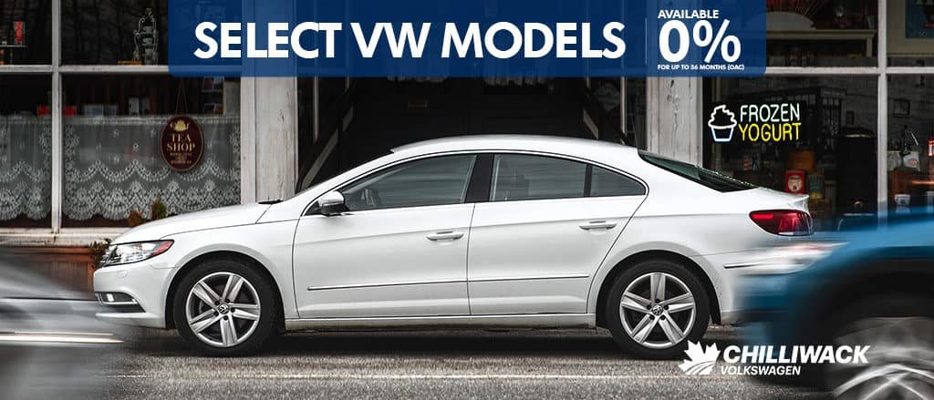 0% is now available on most of our inventory at Chilliwack Volkswagen! Get your VW fix for way less!