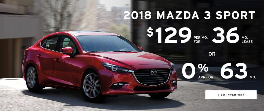 Lease Special -2018 Mazda 3 Sport