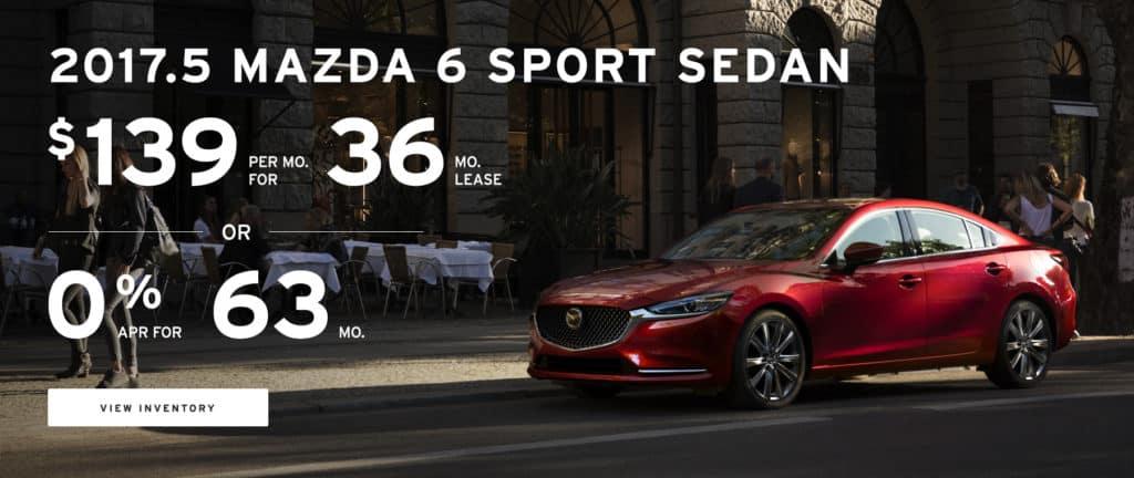 Lease Special - 2017.5 Mazda 6 Sport