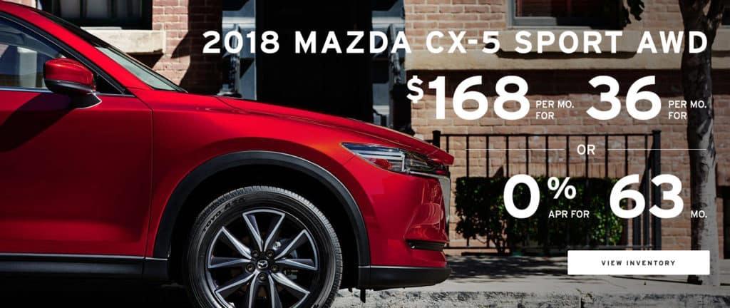 Lease Special - 2018 Mazda CX-5 Sport
