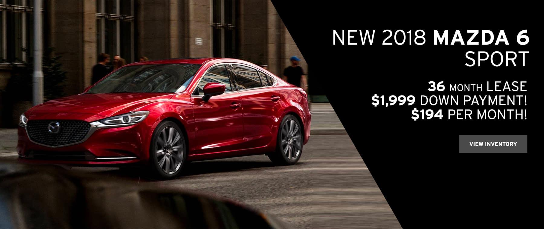 Mazda 6 October Lease Special